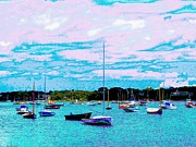 Chatham Prints - Powerful Clouds And Boats Print by Annie Zeno