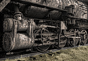 Railroad Spikes Art - POWERTRAIN of STEAM LOCOMOTIVE by Daniel Hagerman
