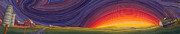 Prairie Sunset Paintings - Powhatten II by Scott Kirby