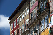 Historic Center Framed Prints - Praca da Ribeira Colors Framed Print by John Rizzuto