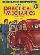 Covers Drawings Prints - Practical Mechanics 1953 1950s Uk Print by The Advertising Archives