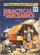 Vacations Drawings Prints - Practical Mechanics 1957 1950s Uk Print by The Advertising Archives