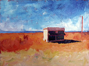 Maps Paintings - Prada Marfa by Paulette Wright