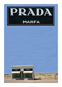Sculpture Artists Posters - Prada Marfa Texas Poster by Jack Pumphrey