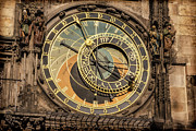 Horoscope Posters - Prague Astronomical Clock Poster by Joan Carroll