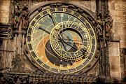 Prague Astronomical Clock Print by Joan Carroll