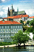 Prague Castle Digital Art Metal Prints - Prague Castle Metal Print by Eduardo Graf Lichnowsky