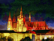 Prague Castle Paintings - Prague Castle by Georgi Dimitrov