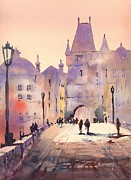 Prague Painting Framed Prints - Prague - Charles Bridge Framed Print by Brigitte Hayden