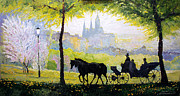 Midday Art - Prague Midday Walk in the Petrin Gardens by Yuriy Shevchuk