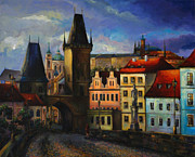 Prague Castle Paintings - Prague by Nelly Baksht