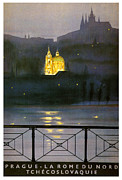 Czechoslovakia Prints - Prague Print by Nomad Art And  Design