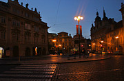 Karluv Most Posters - Prague Old Town at Night Poster by Gregory Dyer