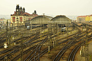 Prague Railroad Station Print by Marek Stepan