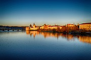 Prague Sunset Print by Victor Zahariev