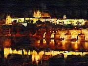 Prague Mixed Media Framed Prints - Prague Framed Print by Tim Knowles