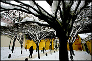 Synagogue Photo Originals - Prague Winter  by Paul Sutcliffe