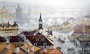Praha Early Spring  Print by Yuriy Shevchuk