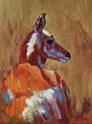 North American Wildlife Painting Posters - Prairie Pal Poster by Patricia A Griffin
