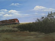 Sask Originals - Prairie Train by Linda Koch