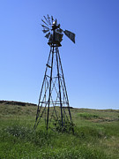 Wind Vane Photos - Prairie Windmill - Washington by Daniel Hagerman