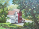 Healing Art Paintings - Prallsville Mill  by Luczay