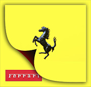 Stock Photo Digital Art - Prancing Horse Ferrari by Maj Seda