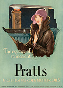 Featured Metal Prints - Pratts  1930 1930s Uk Cc  Women Woman Metal Print by The Advertising Archives