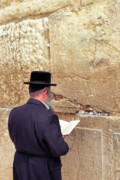 Homeland Posters - Prayer at the Western Wall Poster by Thomas R Fletcher
