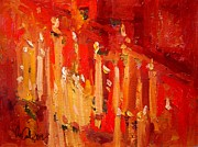 Prayer Painting Originals - Prayer candles by R W Goetting