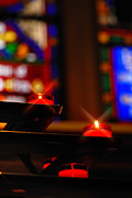 Prayer Candles Trinity Cathedral Pittsburgh Print by Amy Cicconi