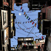 Tenements Prints - Prayer Flags Print by Cynthia Decker