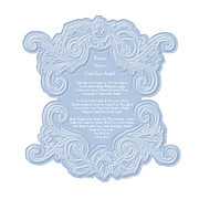 Shabbychic Posters - Prayer From a Guardian Angel - Blue Poster by KM Russell