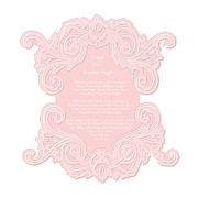 Shabbychic Posters - Prayer From a Guardian Angel - Pink Poster by KM Russell