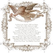 Shabbychic Prints - Prayer From a Guardian Angel - Prayer - Baby Angel Print by KM Russell