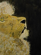 Harold Greer Art - Prayer Lion by Harold Greer