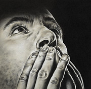 Grey Drawings Originals - Prayer by Natasha Denger