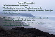 Prayer Room Posters - Prayer of St Francis of Assisi Poster by Sharon Elliott