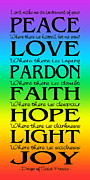 Ginny Gaura - Prayer of St Francis - Subway Style - Rainbow