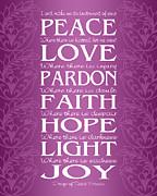 Ginny Gaura - Prayer of St Francis - Victorian Radiant Orchid