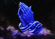 Praying Hands Prints - Prayer Time Print by Earl Jackson