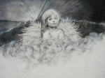 Angel  Artwork Prints - Prayers to an Angel Print by Tracy Male