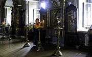 Candelabra Art - Praying at the Convent - Moscow - Russia by Madeline Ellis
