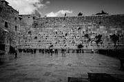Jews Posters - Praying at the Western Wall Poster by David Morefield