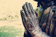 Praying Hands Framed Prints - Praying Hands Framed Print by Yuliana Giron