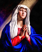 Joseph Frank Baraba Digital Art Prints - Praying Madonna Print by Joseph Frank Baraba