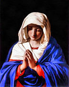 Joseph Frank Baraba Digital Art Framed Prints - Praying Virgin Framed Print by Joseph Frank Baraba