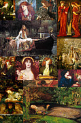 Collier Painting Posters - Pre Raphaelite Collage Poster by Philip Ralley