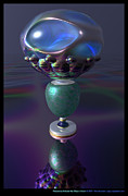 Silver Turquoise Digital Art - Precarious Eclectic Era Object Stack  by Ann Stretton