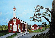 Old School House Painting Posters - Precious Memories Poster by Darlene Prowell